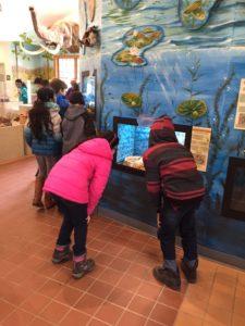 Children exploring the SNC aqua wall